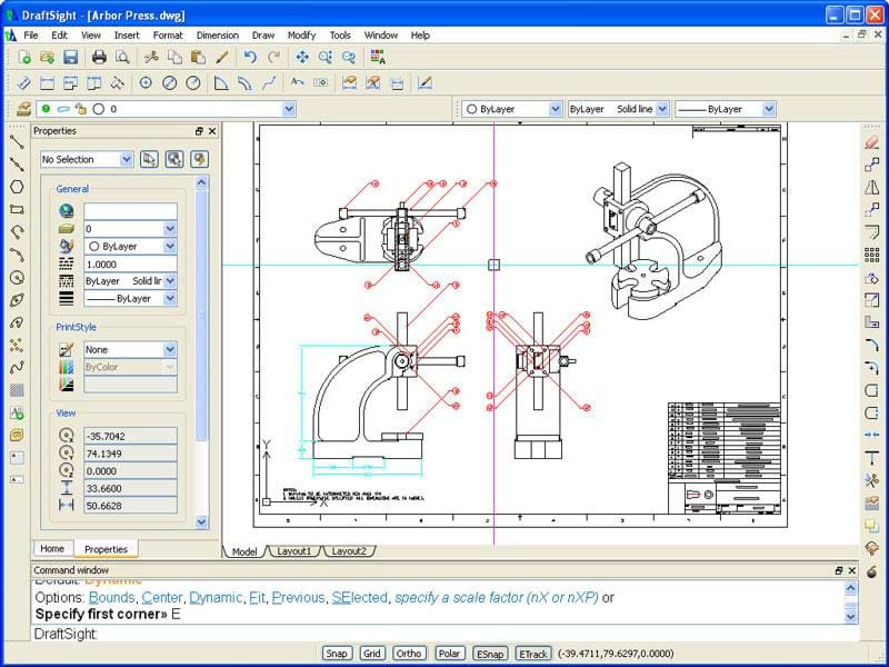 Draftsight free 2d dwg editor solid solutions for Online cad drawing software