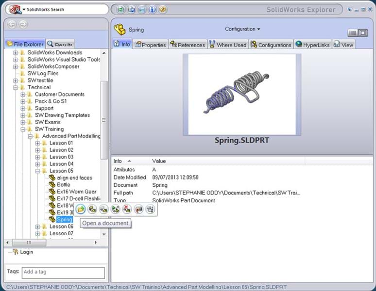 how to open solidworks explorer