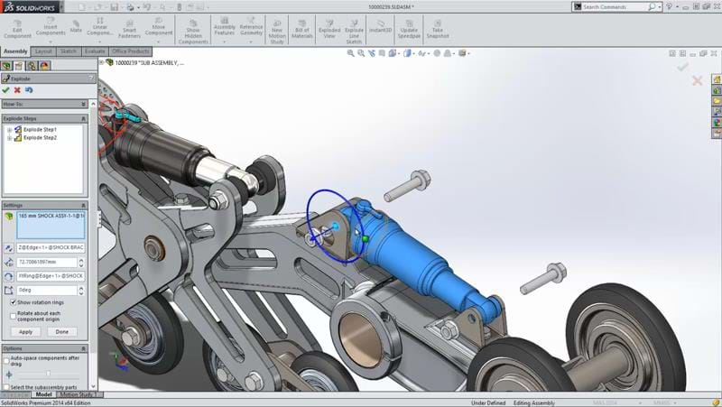 Solidworks Capabilities Animations Exploded Assembly on Solidworks Exploded View Drawing