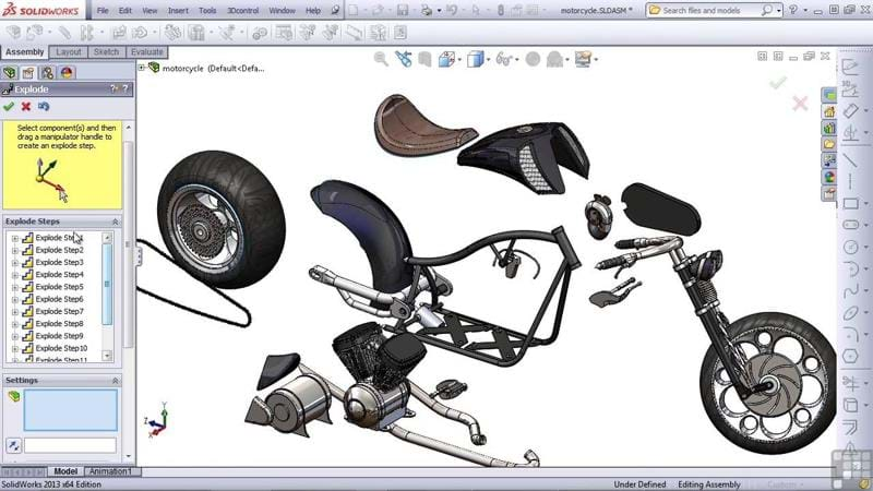 Animations Design Capabilities in SOLIDWORKS 3D CAD