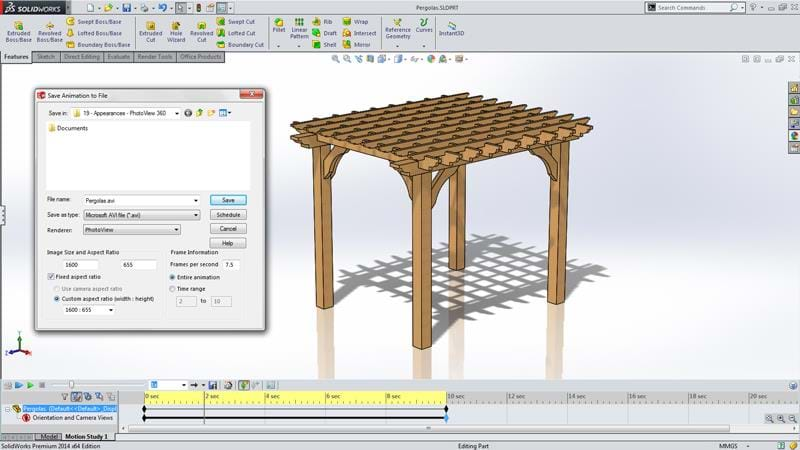 Solidworks Capabilities Animations Pergolas on Solidworks Exploded View Drawing