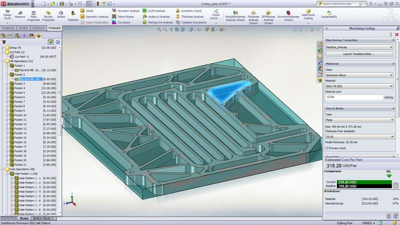 Costing Capabilities In Solidworks 3d Cad Design