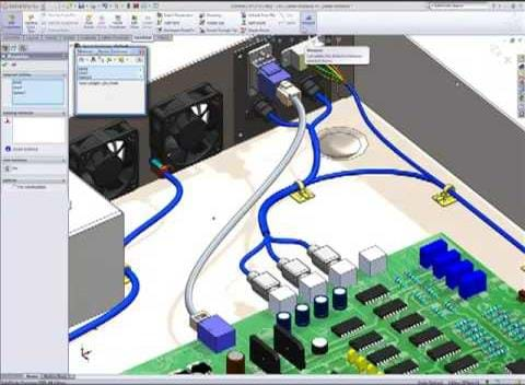 solidworks Capabilities Electrical Routing Plug electrical routing design capabilities in solidworks solidworks wiring harness at bakdesigns.co