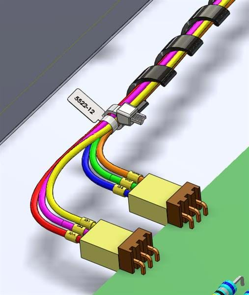 electrical routing design capabilities in solidworks rh solidsolutions co uk Cloth Wire Loom Cloth Wire Loom
