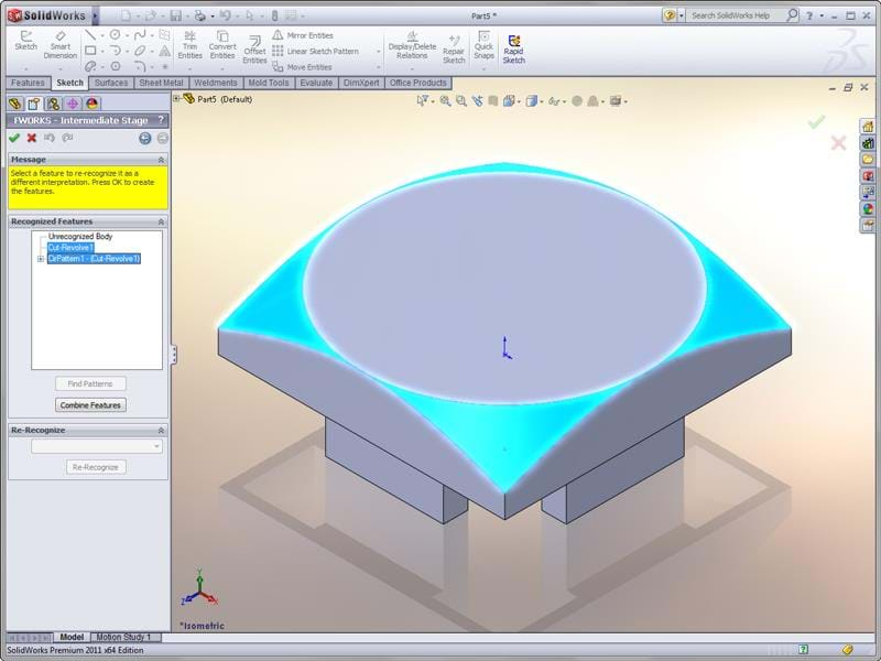 Featureworks Capabilities In Solidworks 3d Cad