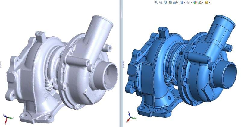 ScanTo3D Design Capabilities in SOLIDWORKS 3D CAD