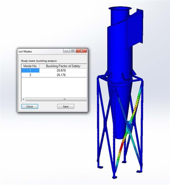 Buckling or Collapse Simulation in SOLIDWORKS 3D CAD