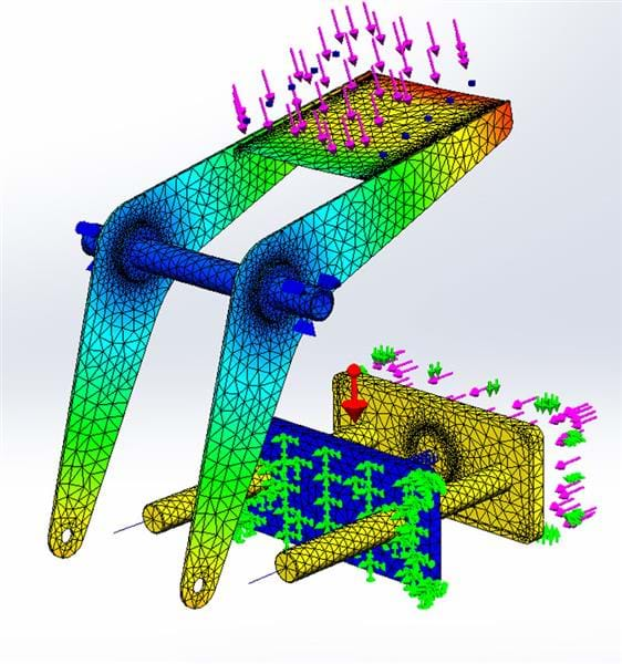 Linear Stress Analysis Capabilities in SOLIDWORKS