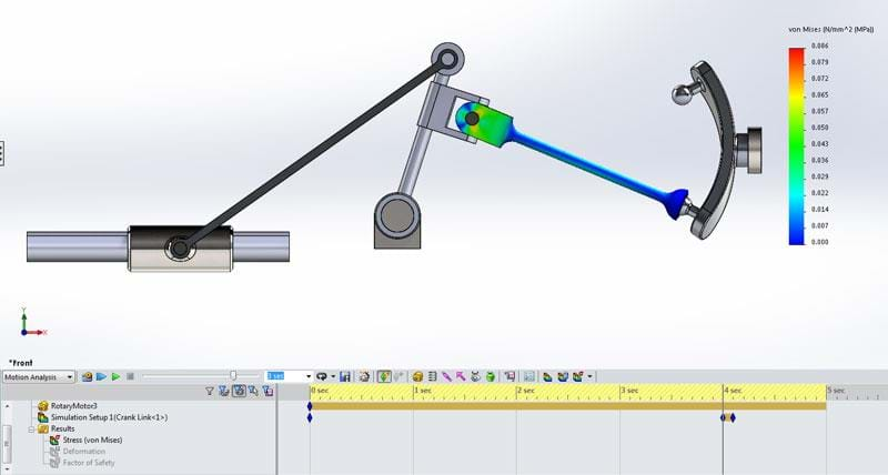 Kinematic Motion Simulation Capabilities in SOLIDWORKS