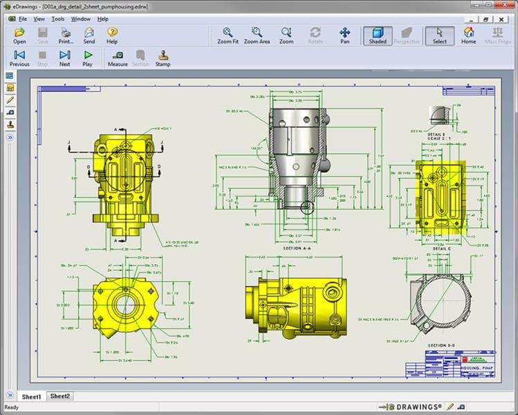 Free 3D CAD Viewer SOLIDWORKS e-Drawings Overview