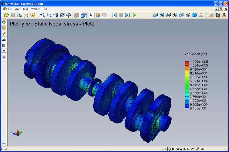 solidworks edrawings simulation fea results jpg
