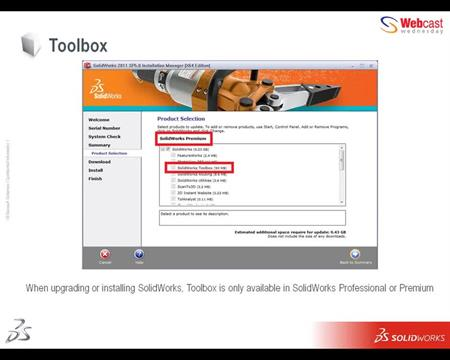 SOLIDWORKS Toolbox - SOLIDWORKS Online Tutorial