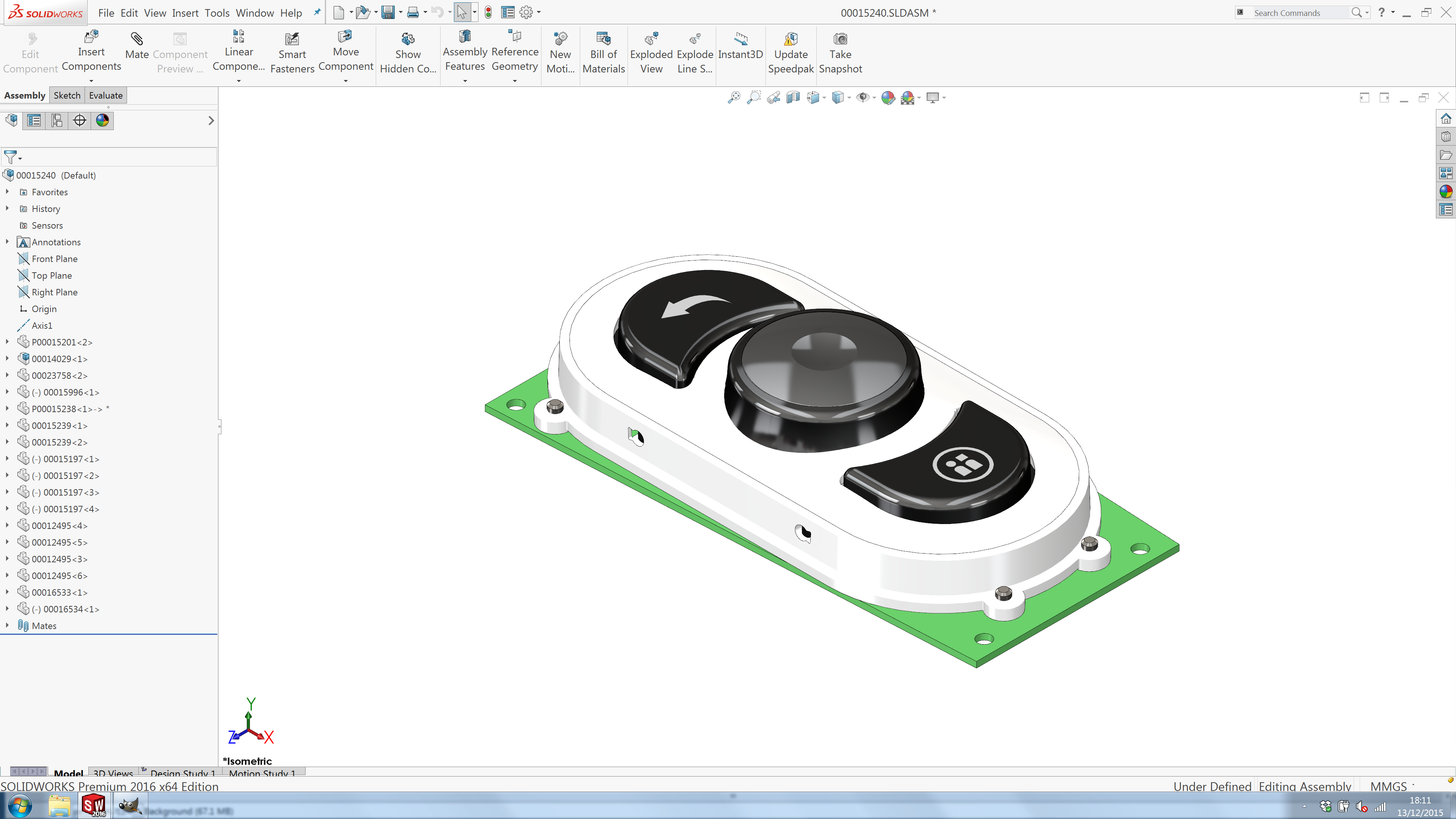 Solidworks 2016 user interface update for Design table not working solidworks