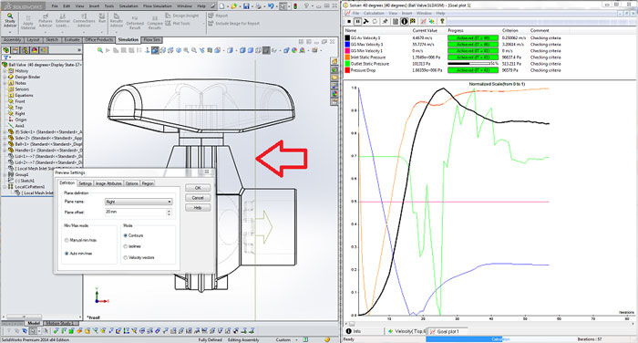 SOLIDWORKS Flow Solver Plane Location