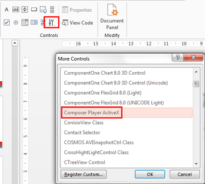 Embedding SOLIDWORKS Composer Player in Microsoft Office