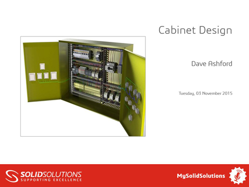 SOLIDWORKS Electrical Webcast Cabinet Design