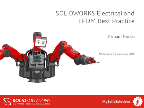 SOLIDWORKS PDM and Electrical Webcast