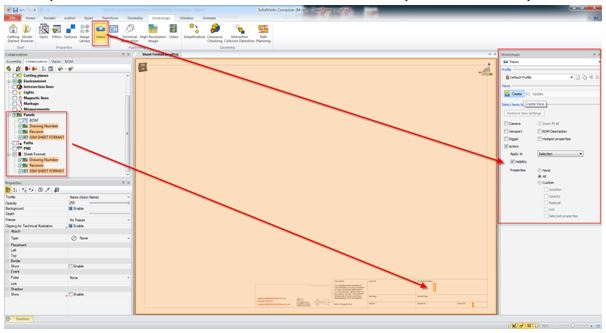 How to use a sheet format in SOLIDWORKS Composer
