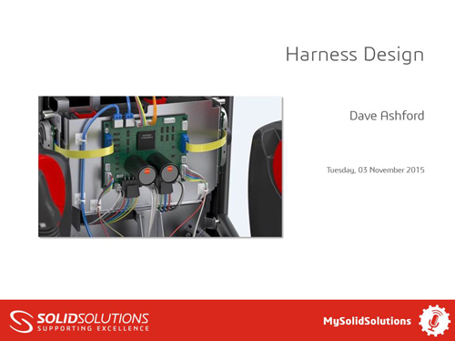 SOLIDWORKS Electrical Webcast Harness Design