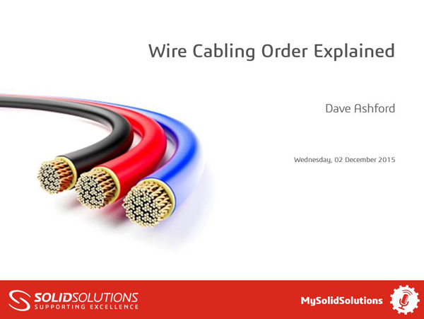 Wire Cabling in SOLIDWORKS Electrical