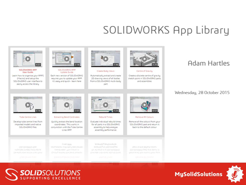 SOLIDWORKS APPS Webcast