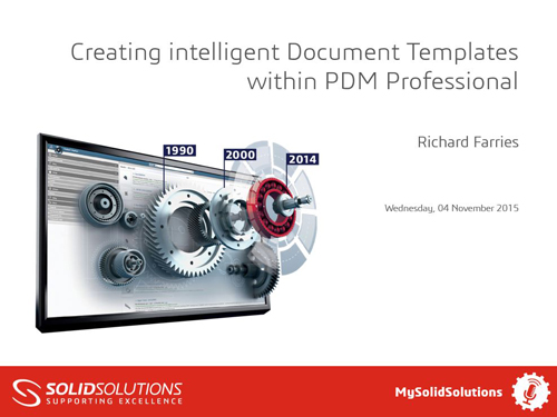 SOLIDWORKS PDM Professional Webcast
