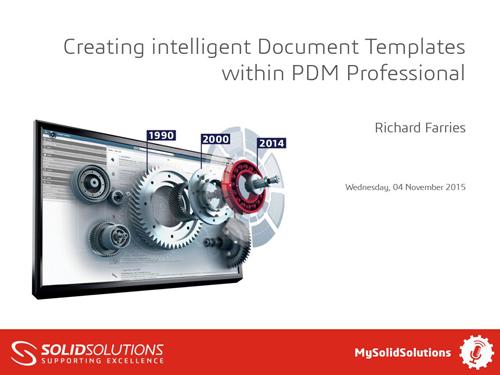 SOLIDWORKS PDM Professional Webcast