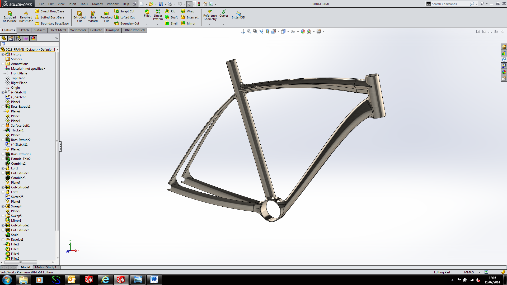 Modelling A Bike The Frame