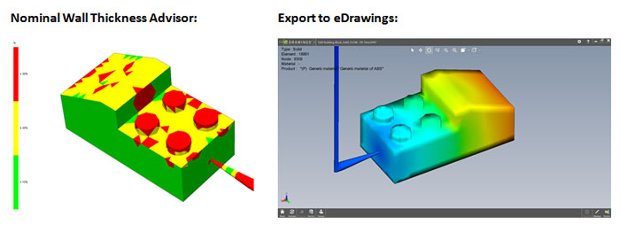 Nominal Wall Thickness and Export to eDrawings SOLIDWORKS Plastics 2015