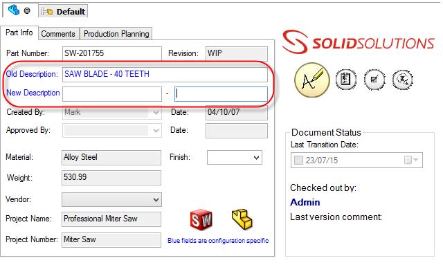 Using an Input Formula in an EnterprisePDM FileCard Control