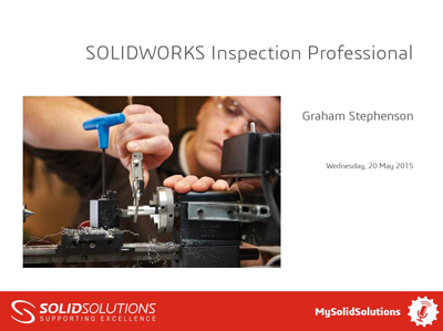 SOLIDWORKS Inspection Webcast