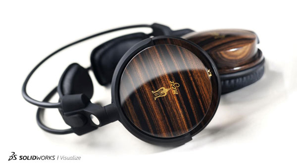 SOLIDWORKS Visualize Headphones
