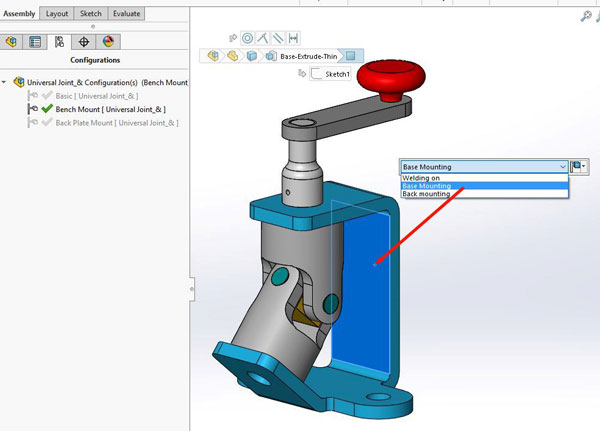 SOLIDWORKS Configurations - Assembly