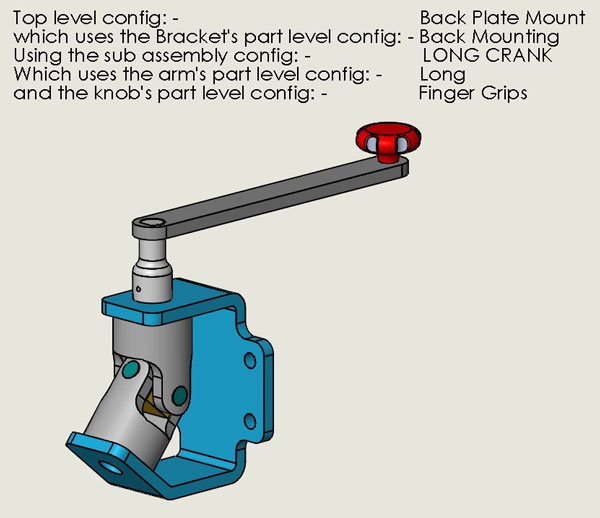 Back Plate Mount, SOLIDWORKS, Configurations