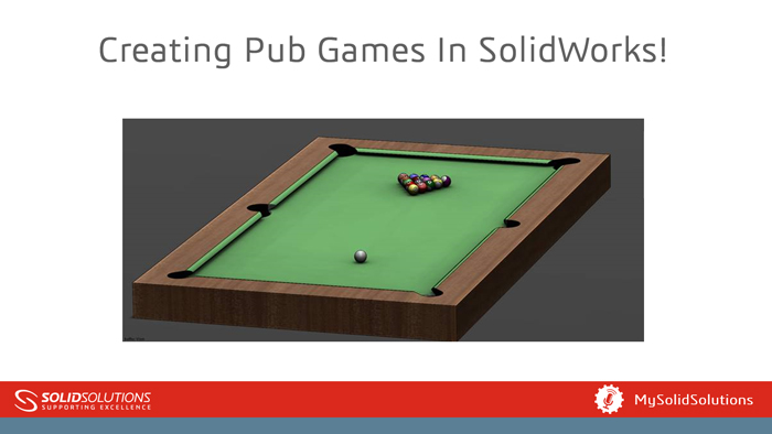 Pub Games in SOLIDWORKS