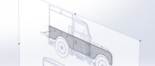 SOLIDWORKS Landrover Sketch Picture