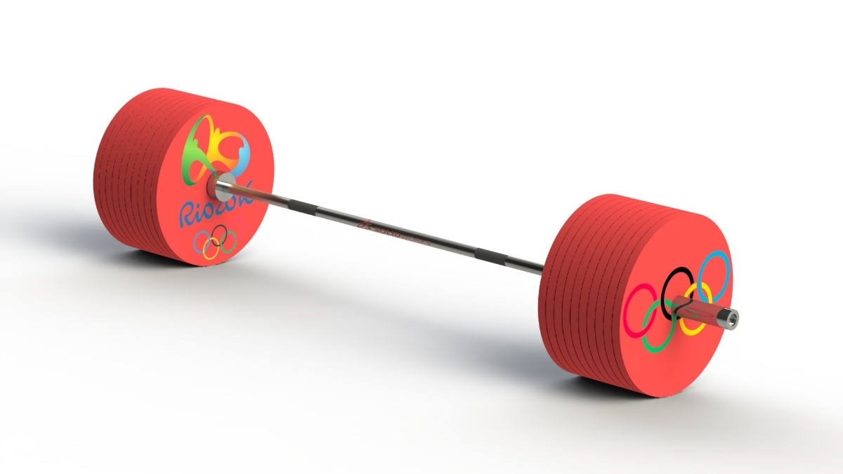 SOLIDWORKS Heavy Olympic Barbell