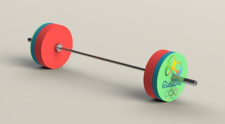 SOLIDWORKS Olympic Barbell
