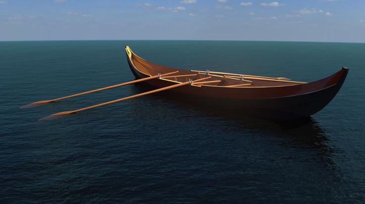 SOLIDWORKS Visualize Rowing Boat