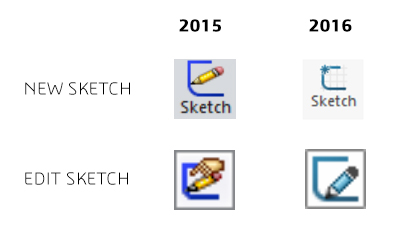 SOLIDWORKS 2016 Sketch Icons