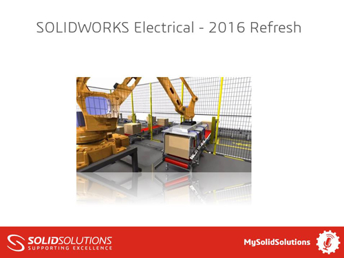 SOLIDWORKS Electrical 2016