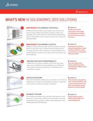 Download Whats New in SOLIDWORKS 2013 Data Sheet