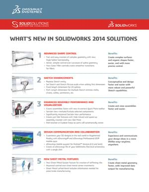 Download Whats New in SOLIDWORKS 2014 Data Sheet