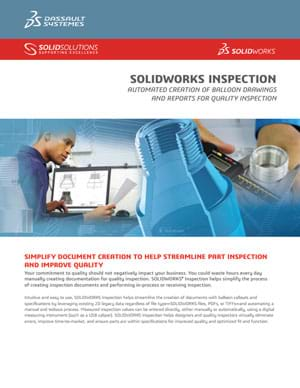 Download SOLIDWORKS Inspection Data Sheet