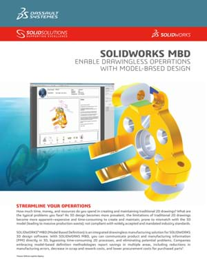 Download SOLIDWORKS Model Based Definition Data Sheet