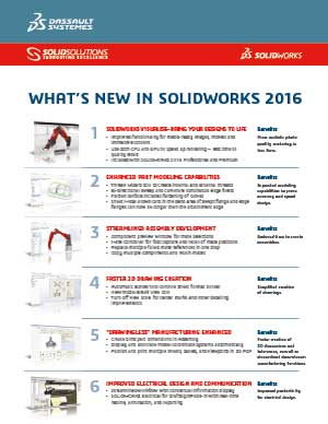 Download Whats New in SOLIDWORKS 2016 Data Sheet