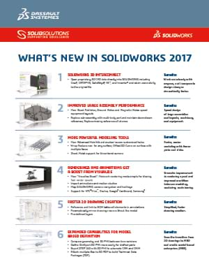 Download Whats New in SOLIDWORKS 2017 Data Sheet