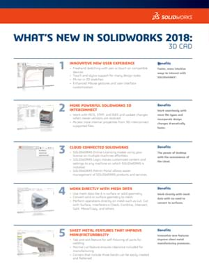 Download Whats New in SOLIDWORKS 2018 Data Sheet