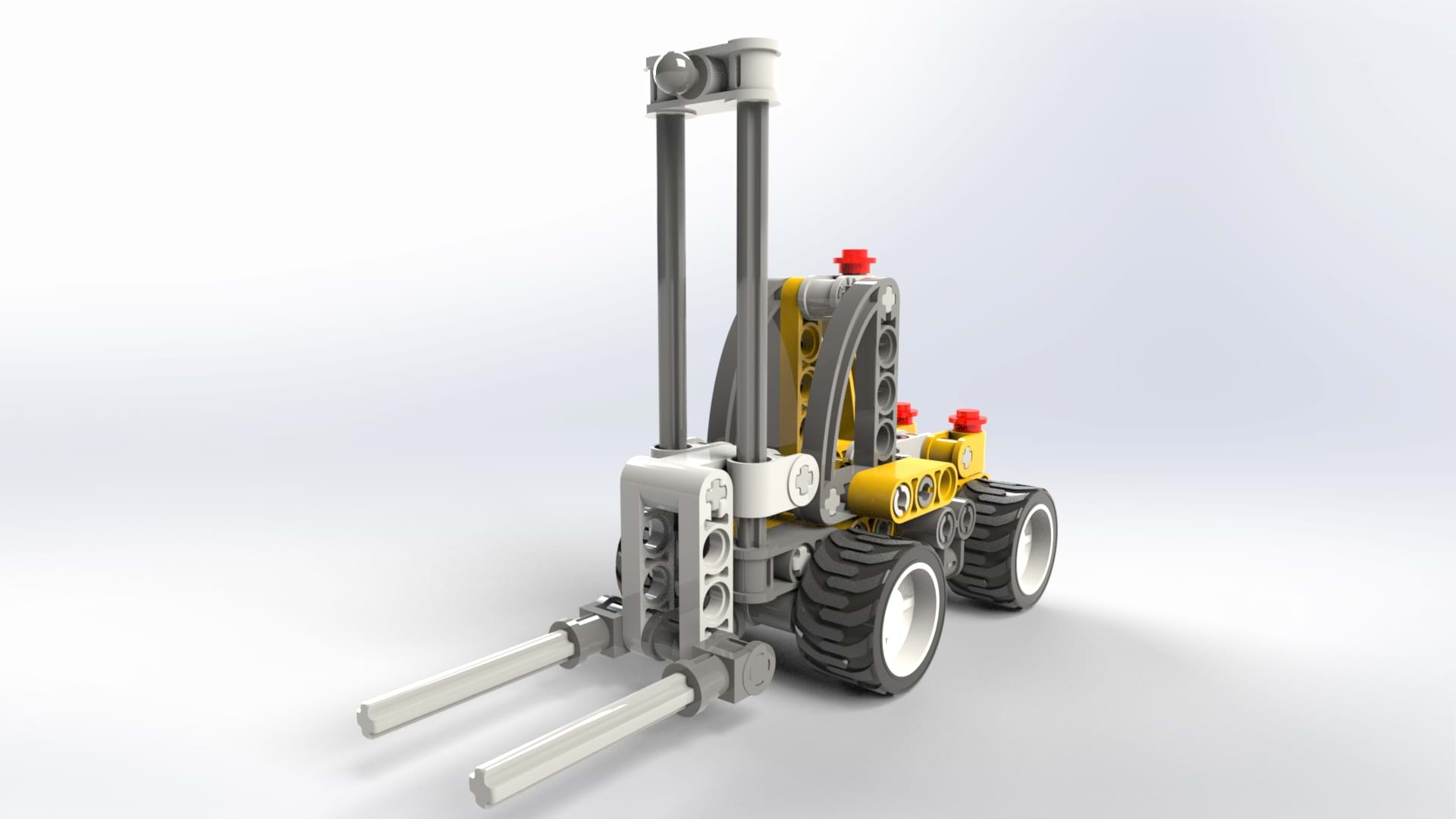 Lego Forklift in SOLIDWORKS Visualize