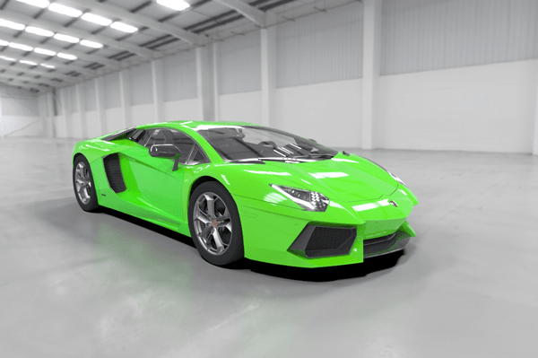 SOLIDWORKS Visualize Post Processing Lambo